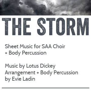 The Storm - sheet music and body percussion from Evie Ladin